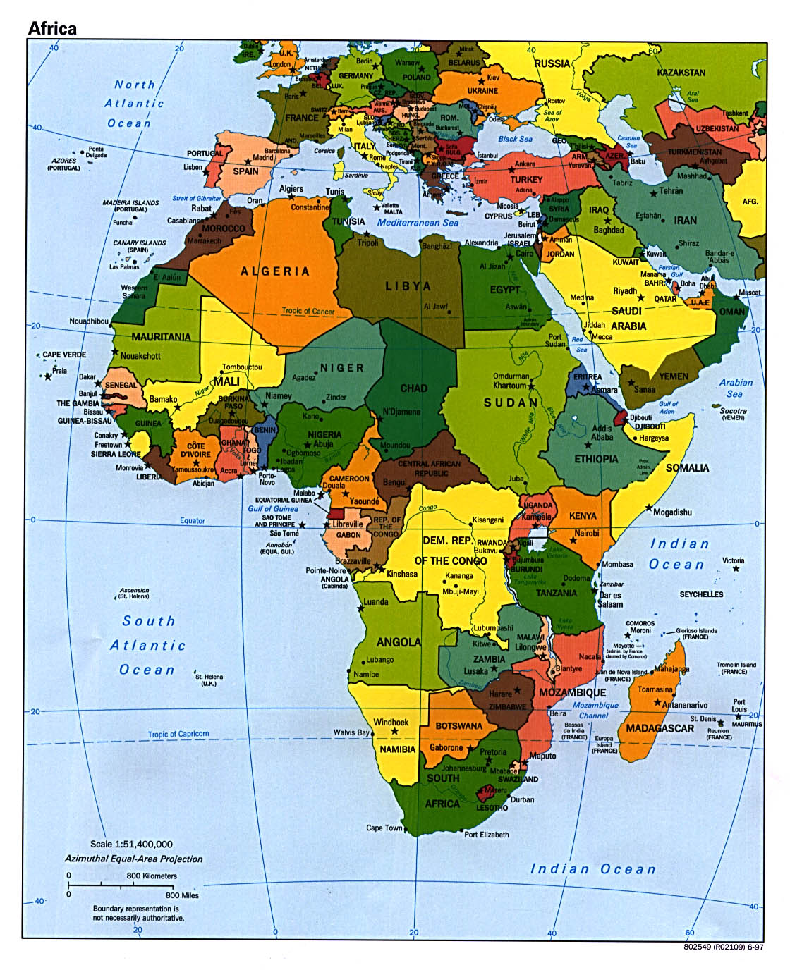 This is a picture of Fabulous Printable Maps of Africa