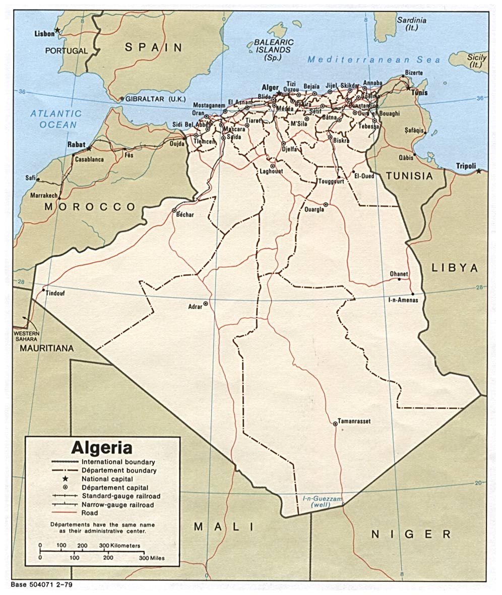 Algeria map, travel information, tourism & geography Algeria Travel Maps