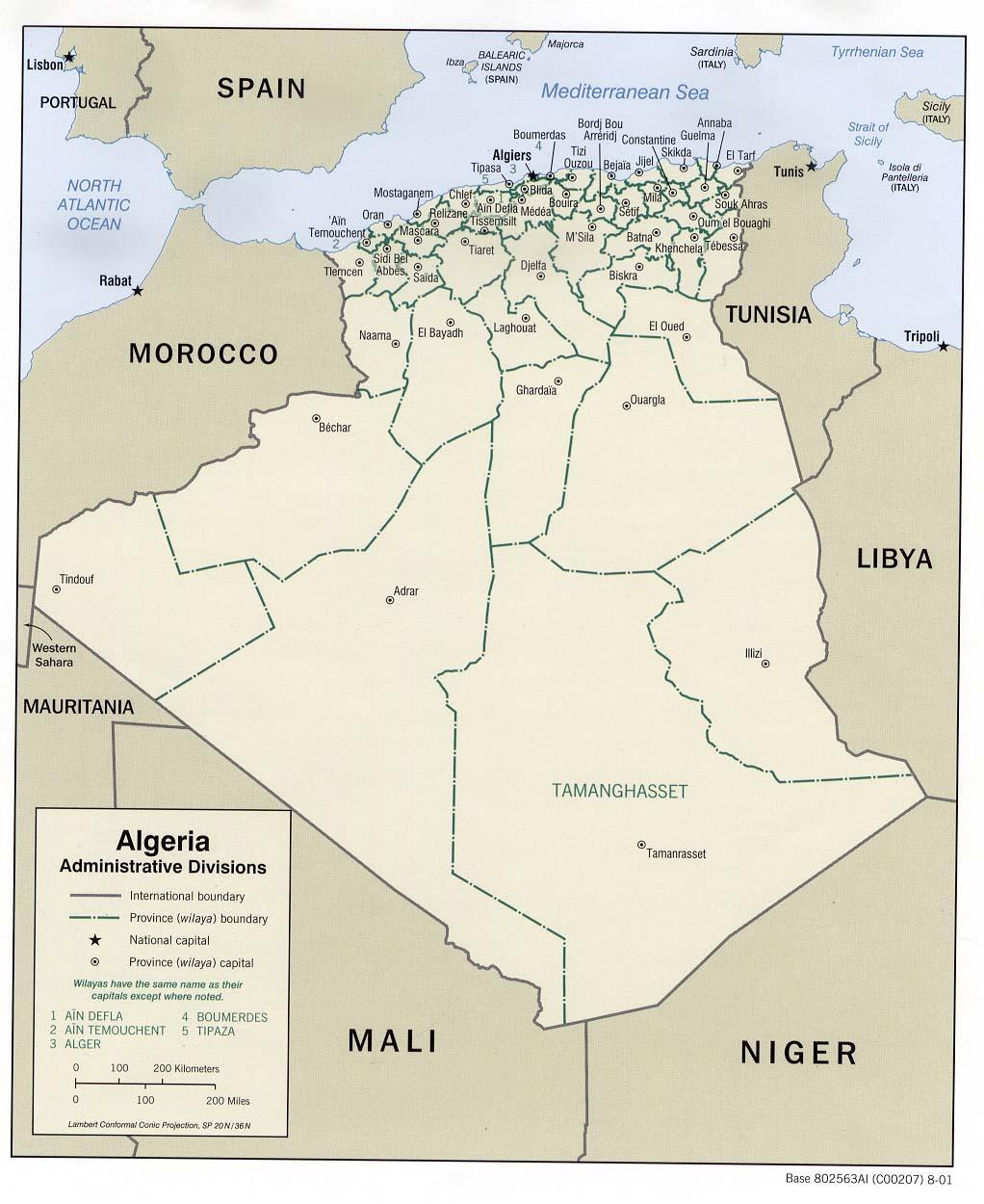 Map Of Algeria - Algeria map