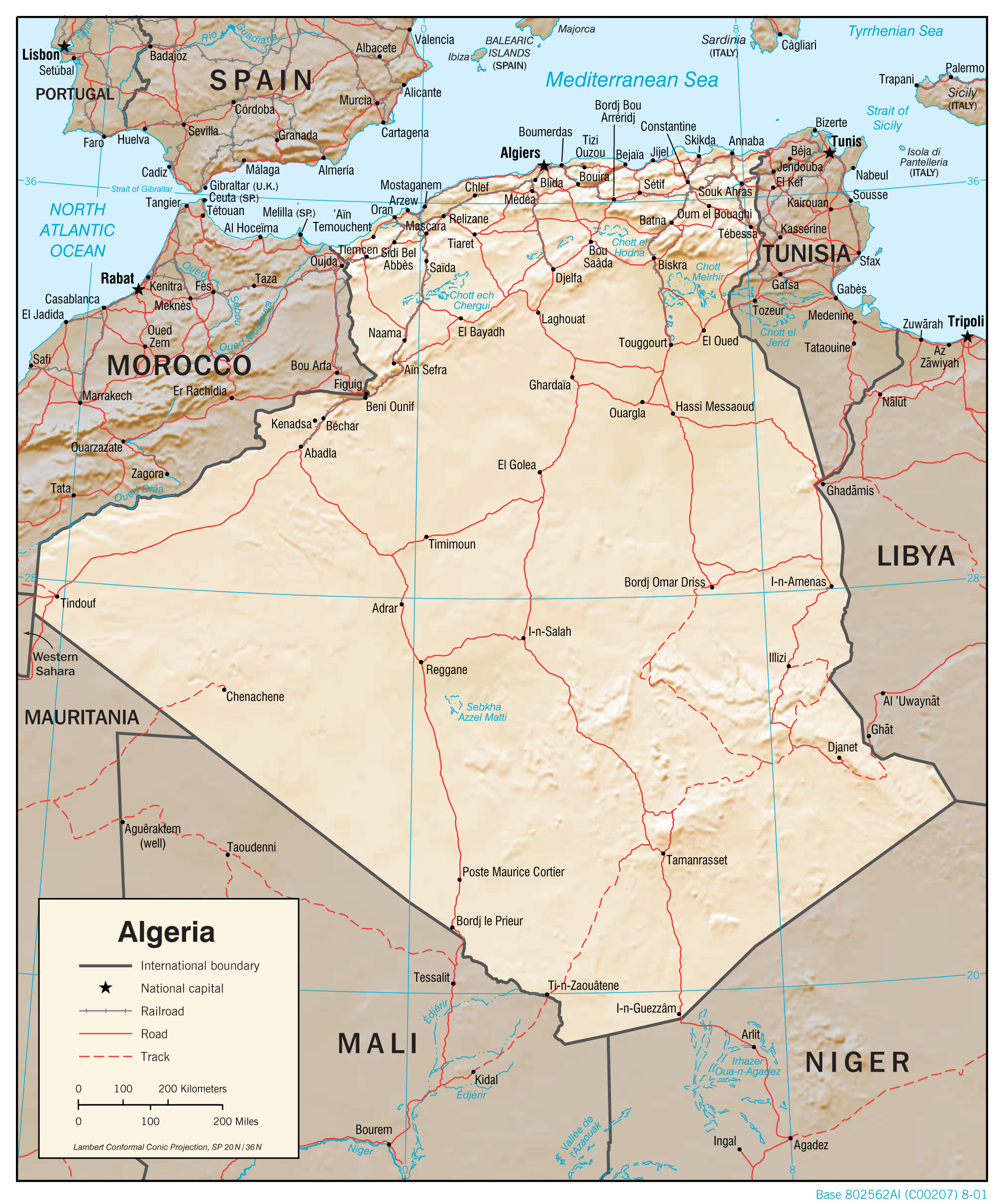 Image result for algeria map