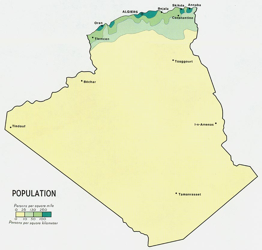 Algeria Maps PerryCastañeda Map Collection UT Library Online - Algeria map