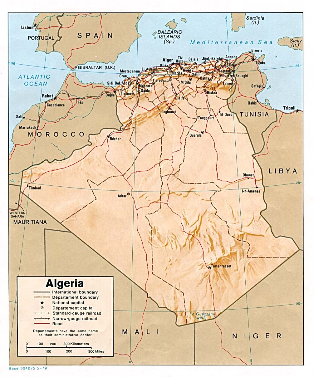 Algeria Maps PerryCastañeda Map Collection UT Library Online - Algeria physical map