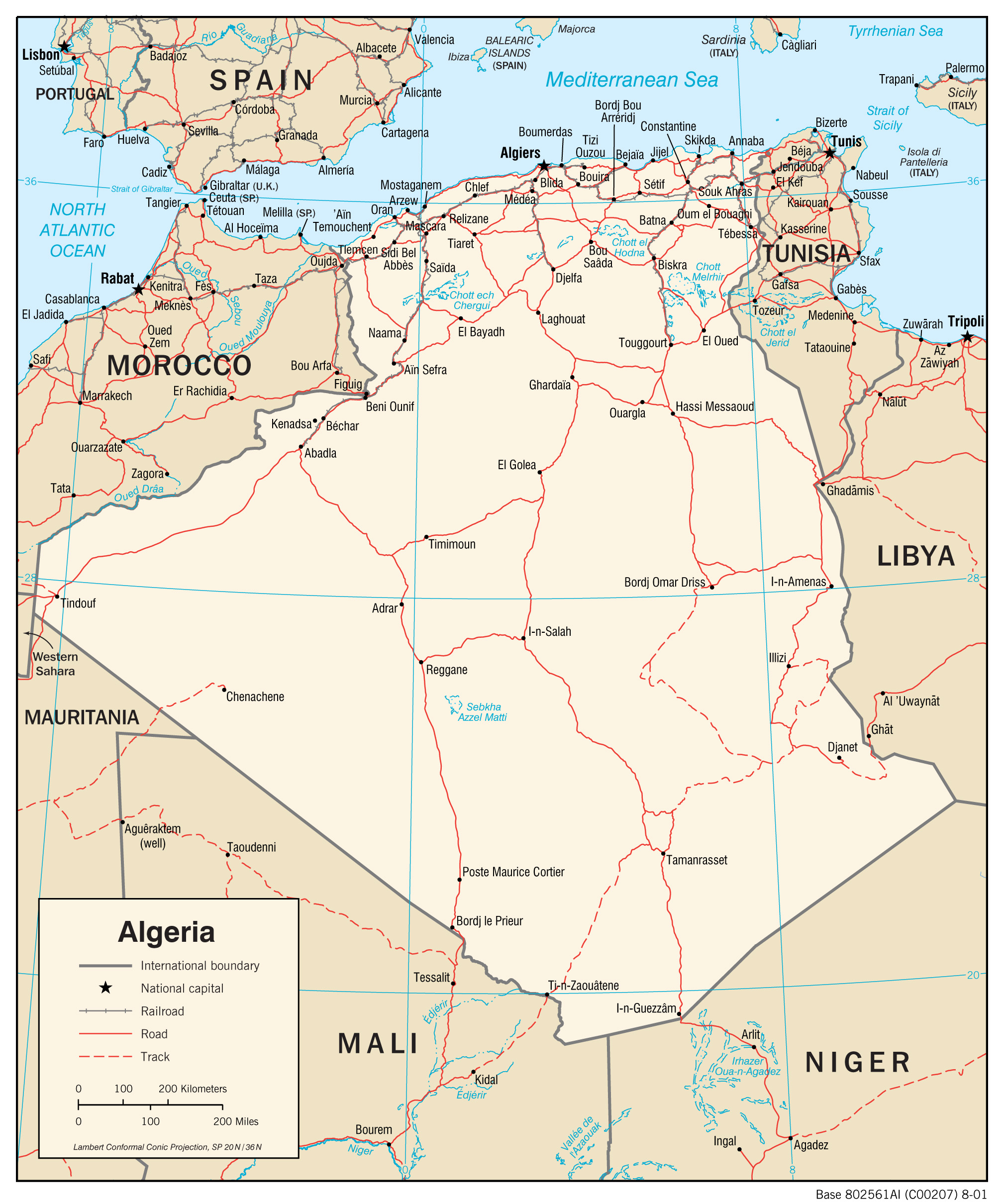 Algeria Maps PerryCastañeda Map Collection UT Library Online - Political map of algeria
