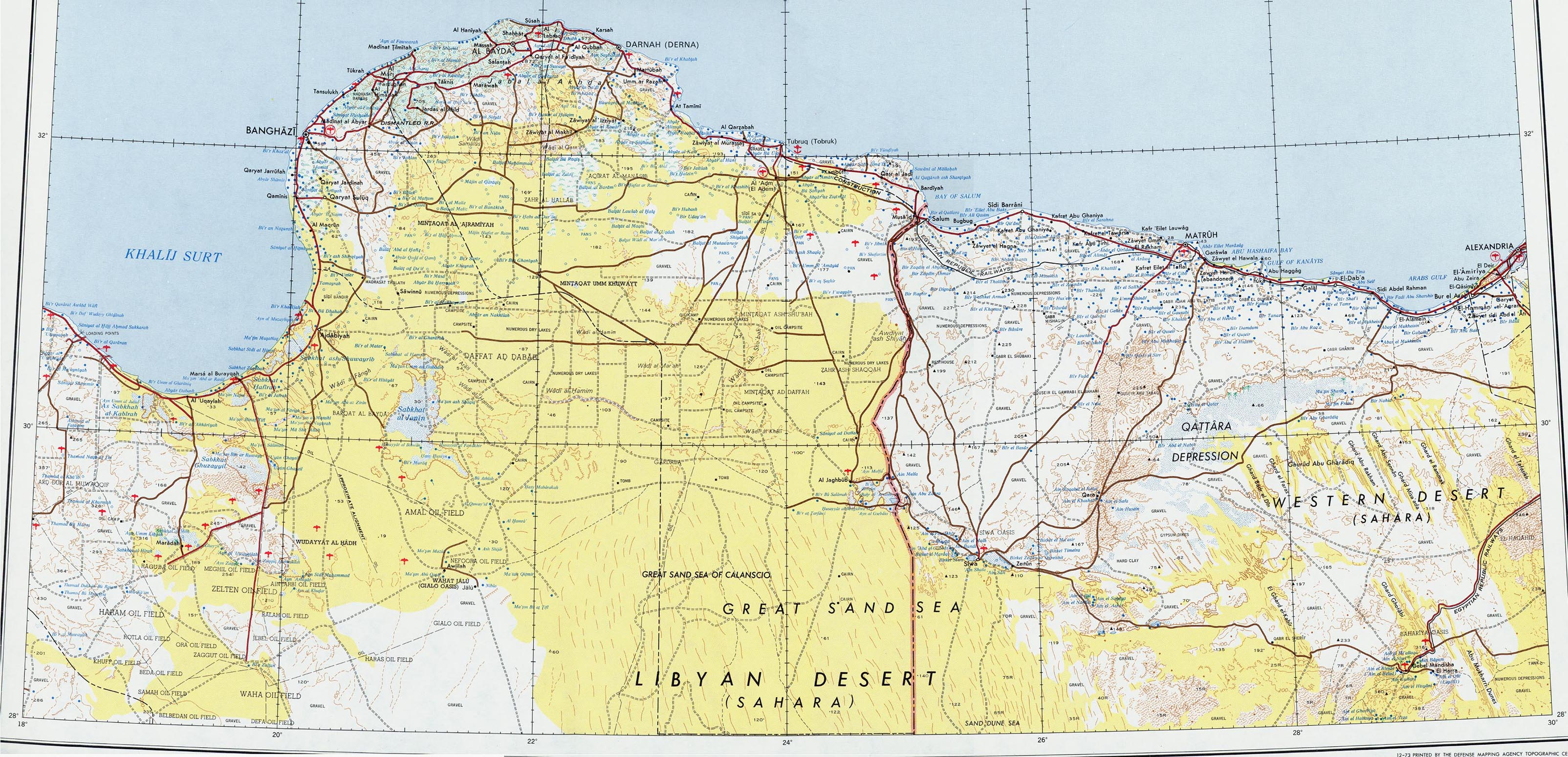 Libya Maps Perry Castaneda Map Collection Ut Library Online - Us-map-key