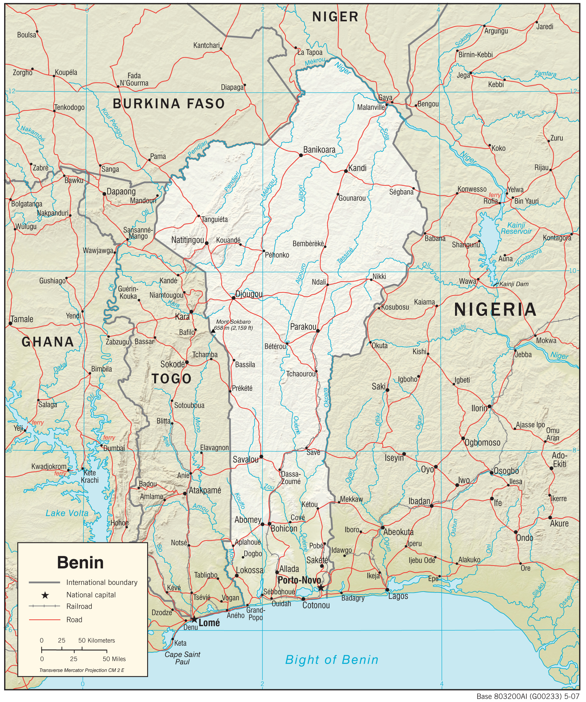 Benin Maps - Perry-Castañeda Map Collection - UT Library Online