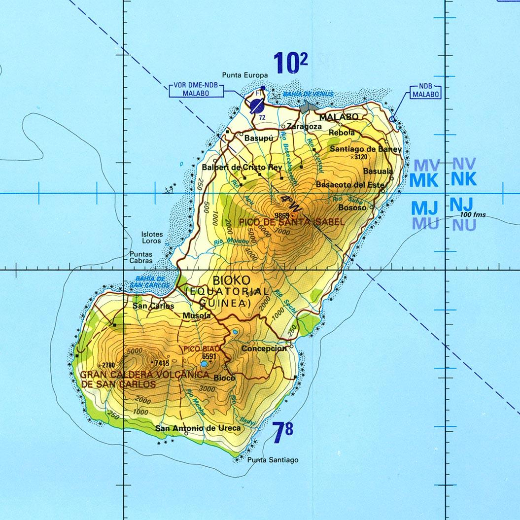 Equatorial guinea maps perry castaeda map collection ut library equatorial guinea maps gumiabroncs Images