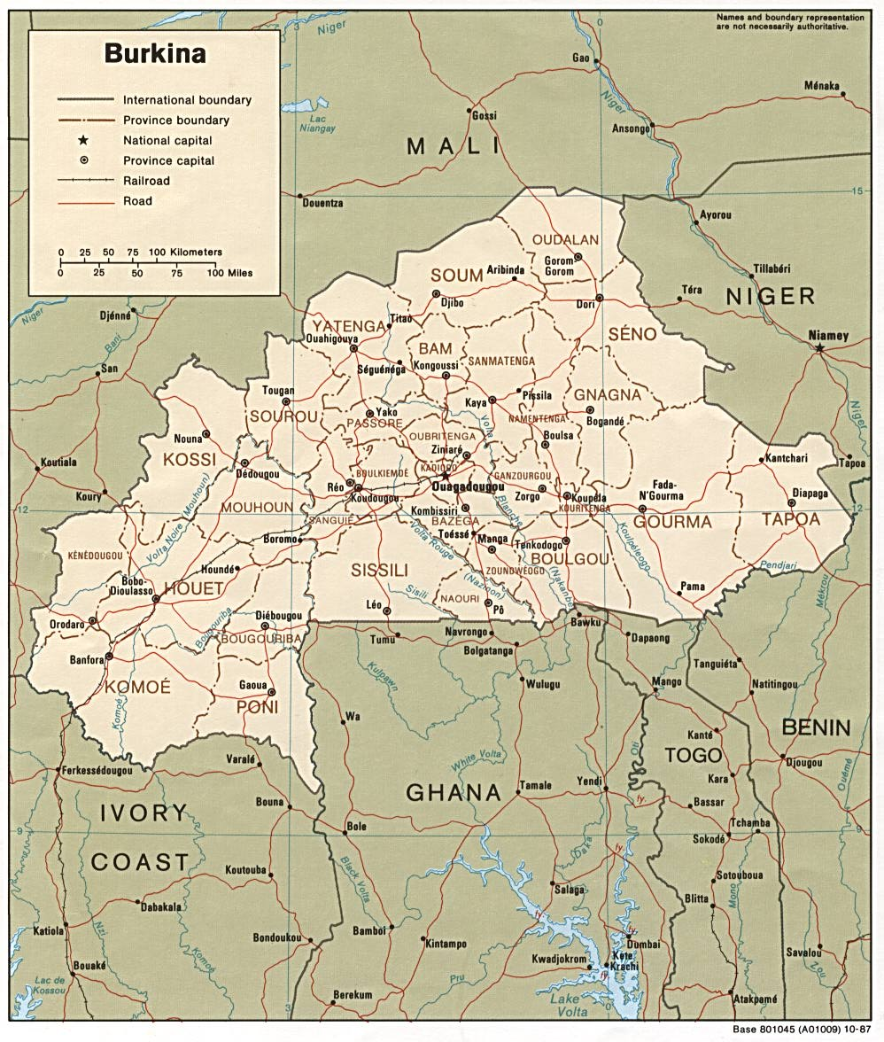 Burkina Faso Maps - Perry-Castañeda Map Collection - UT Library Online