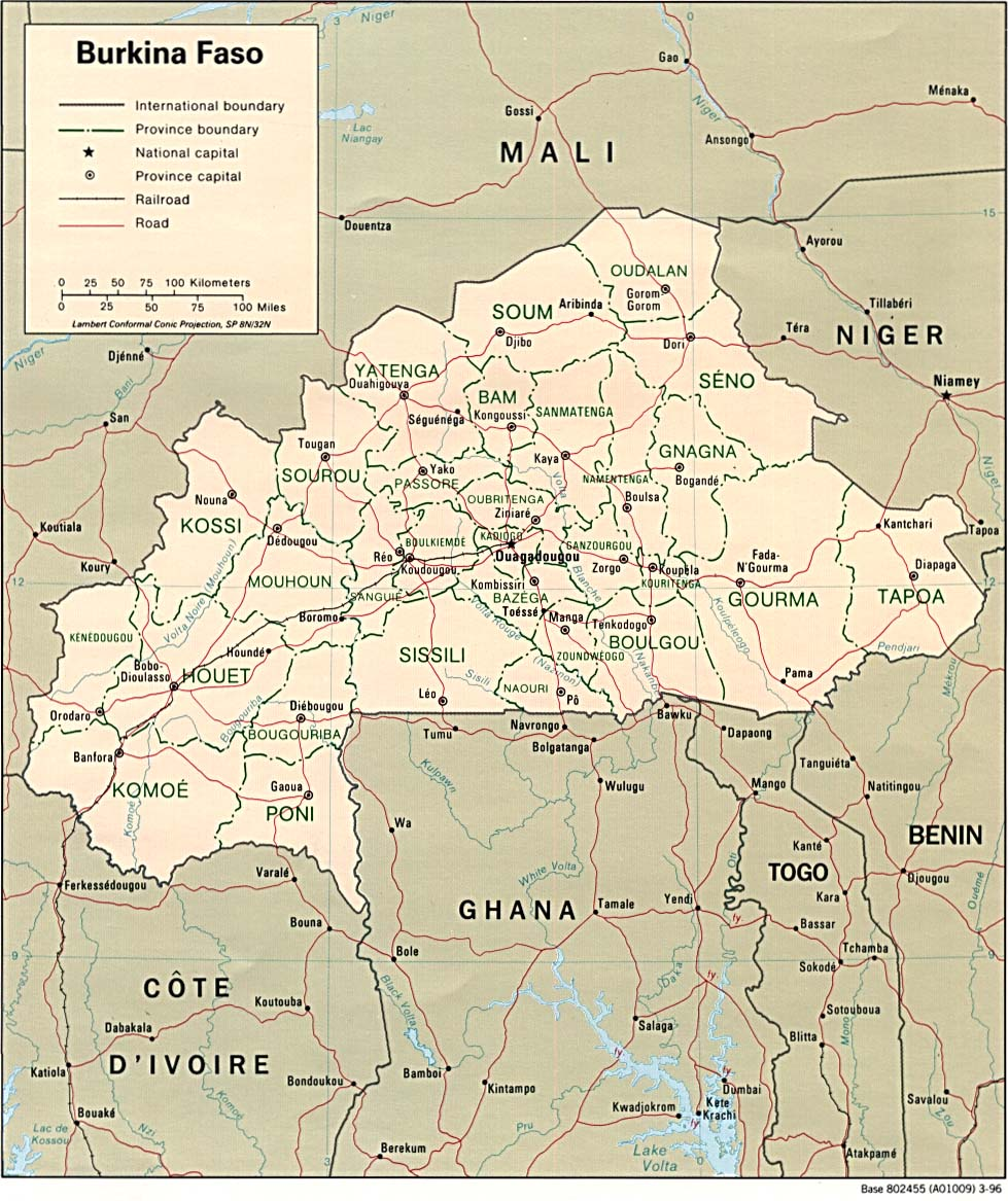 burkina faso maps   perry casta eda map collection   ut library
