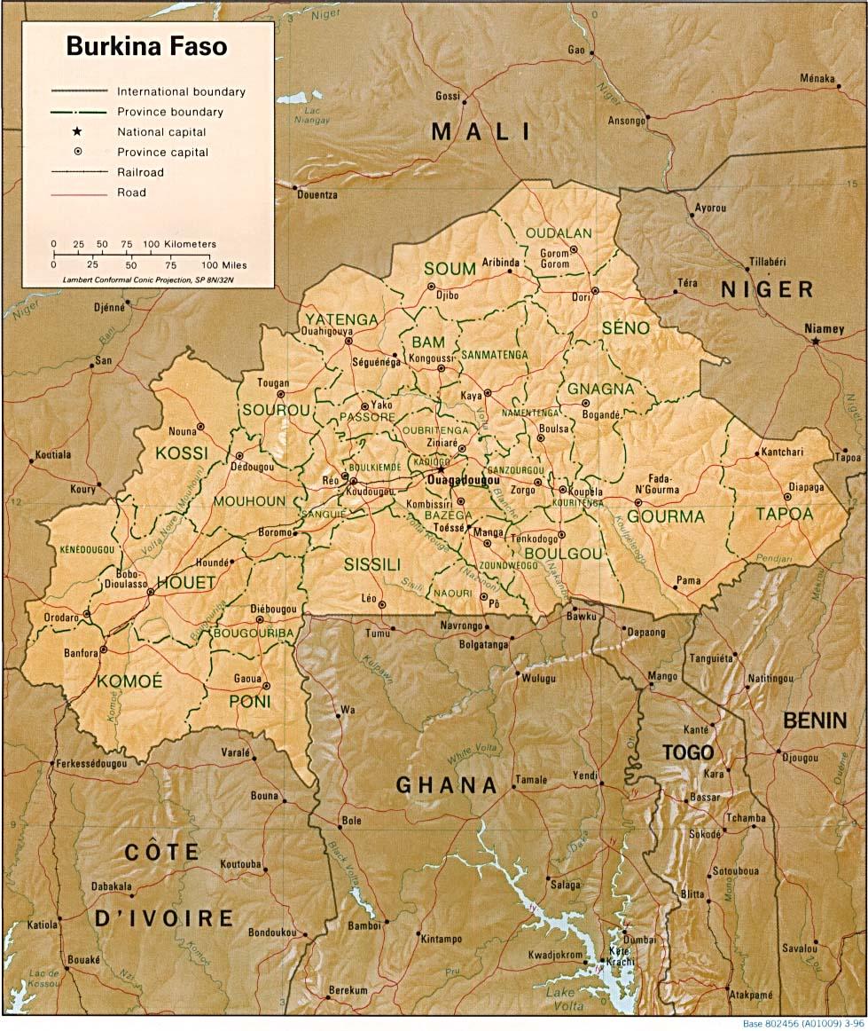 Maps Of Burkina Faso