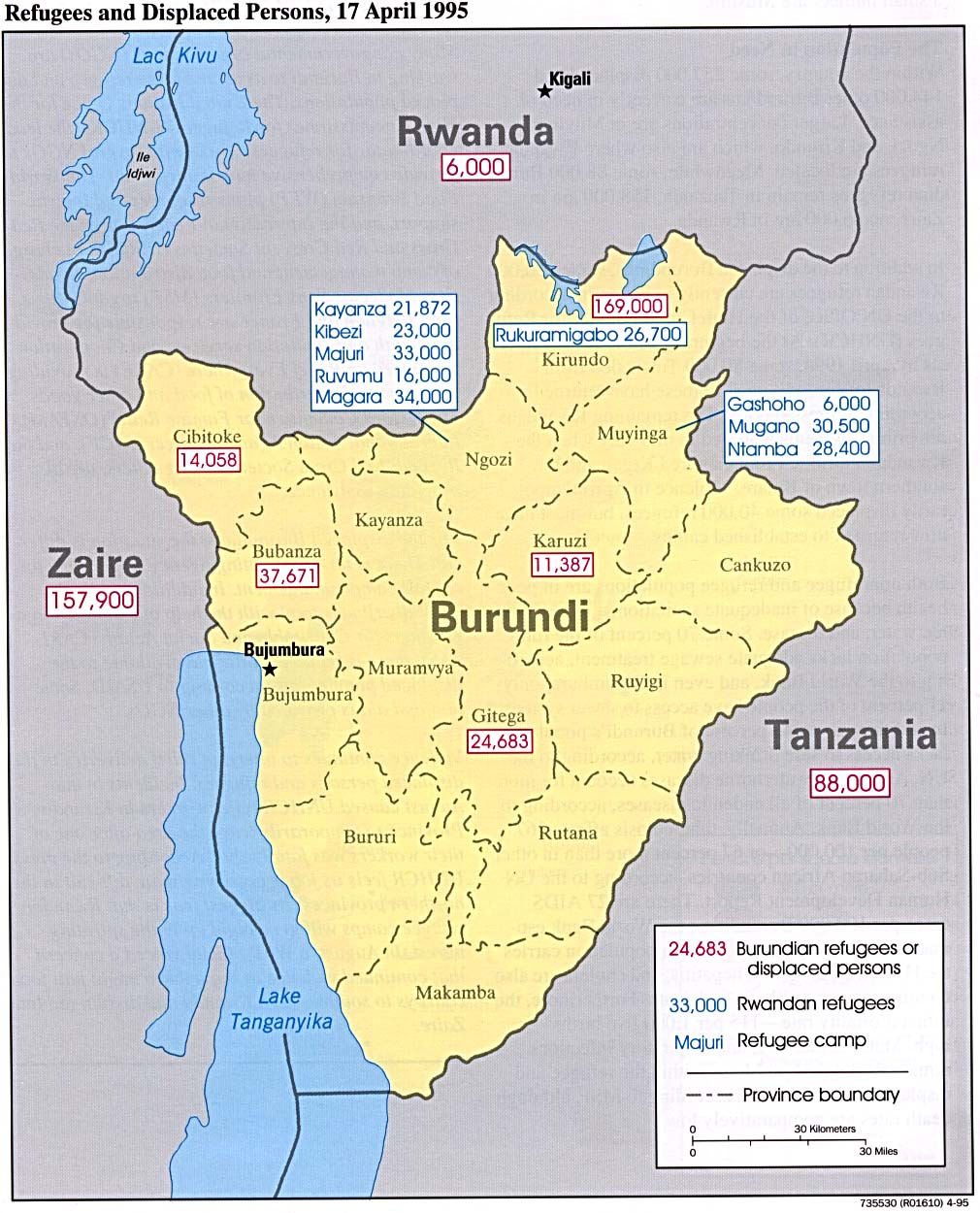 Burundi Maps PerryCastaeda Map Collection UT Library Online
