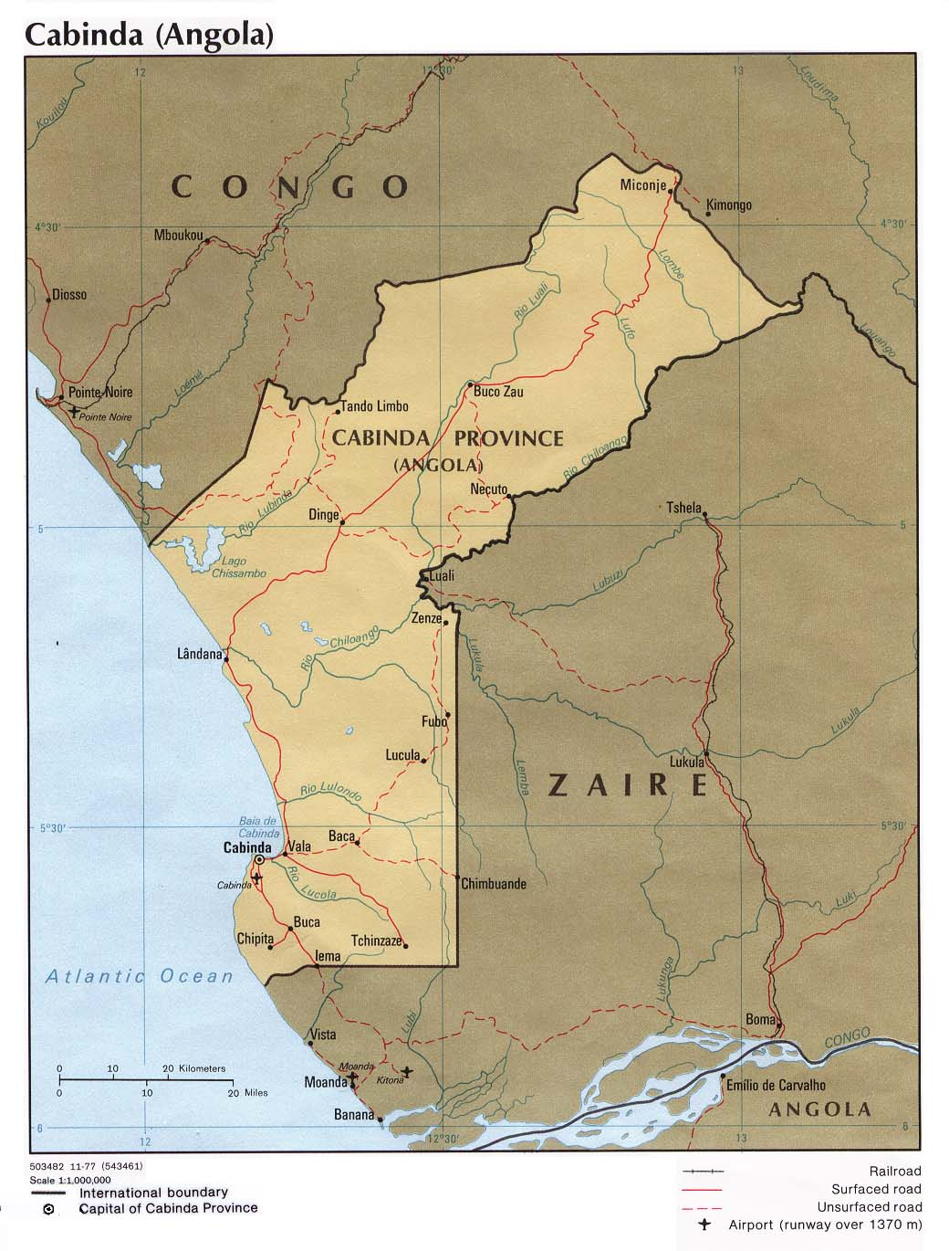 Angola On Africa Map.Angola Maps Perry Castaneda Map Collection Ut Library Online