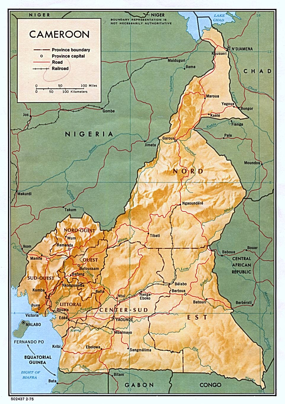 Cameroon Maps PerryCastañeda Map Collection UT Library Online - Cameroon map