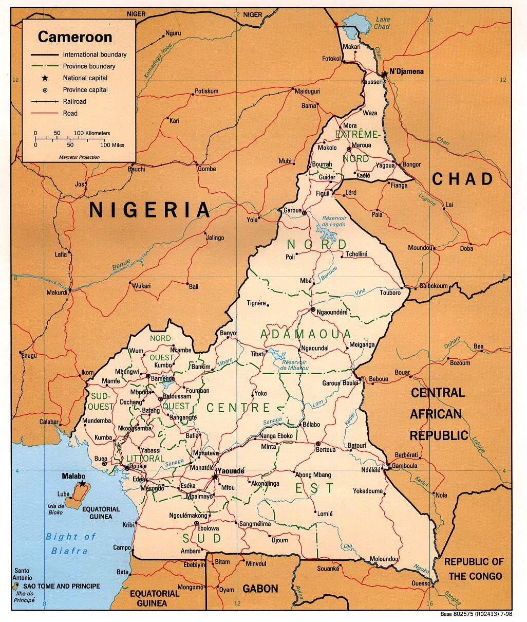 Cameroon Maps - Perry-Castañeda Map Collection - UT Library Online CAMEROON