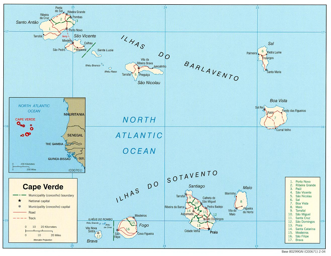Cape Verde Maps PerryCastaeda Map Collection UT Library Online