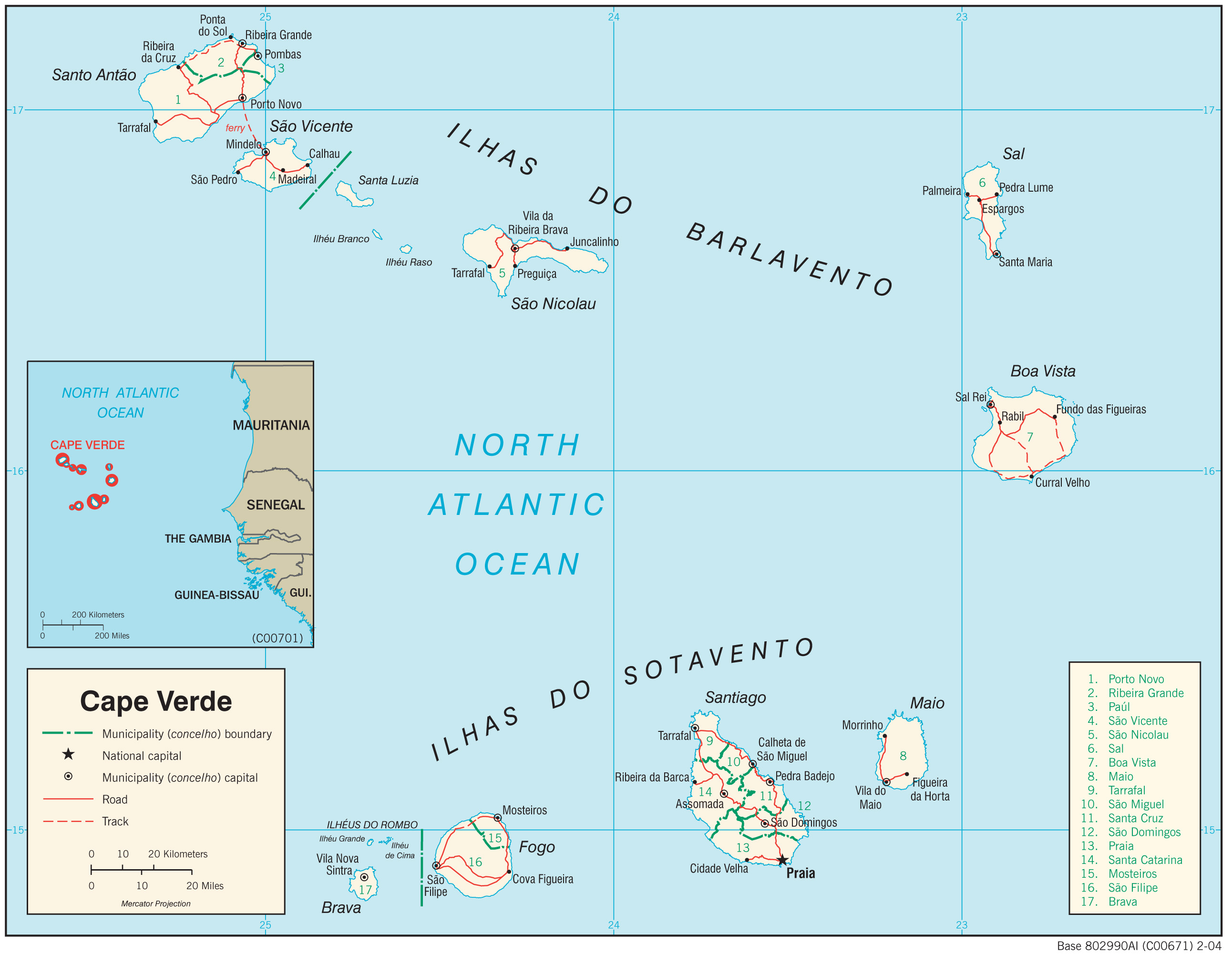 Cape Verde Maps Perry Castaneda Map Collection Ut Library Online