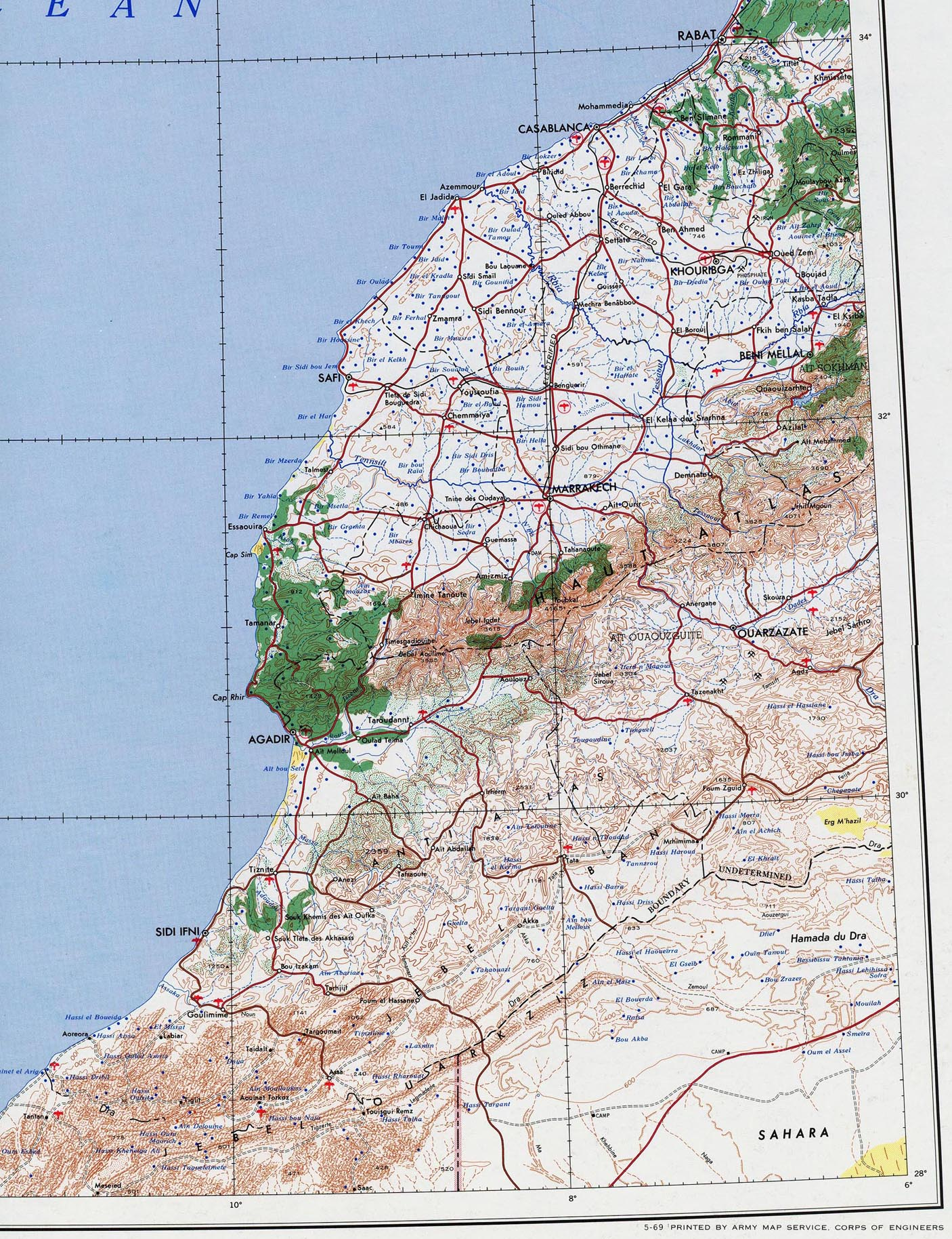 Morocco Maps Perry Casta±eda Map Collection UT Library line