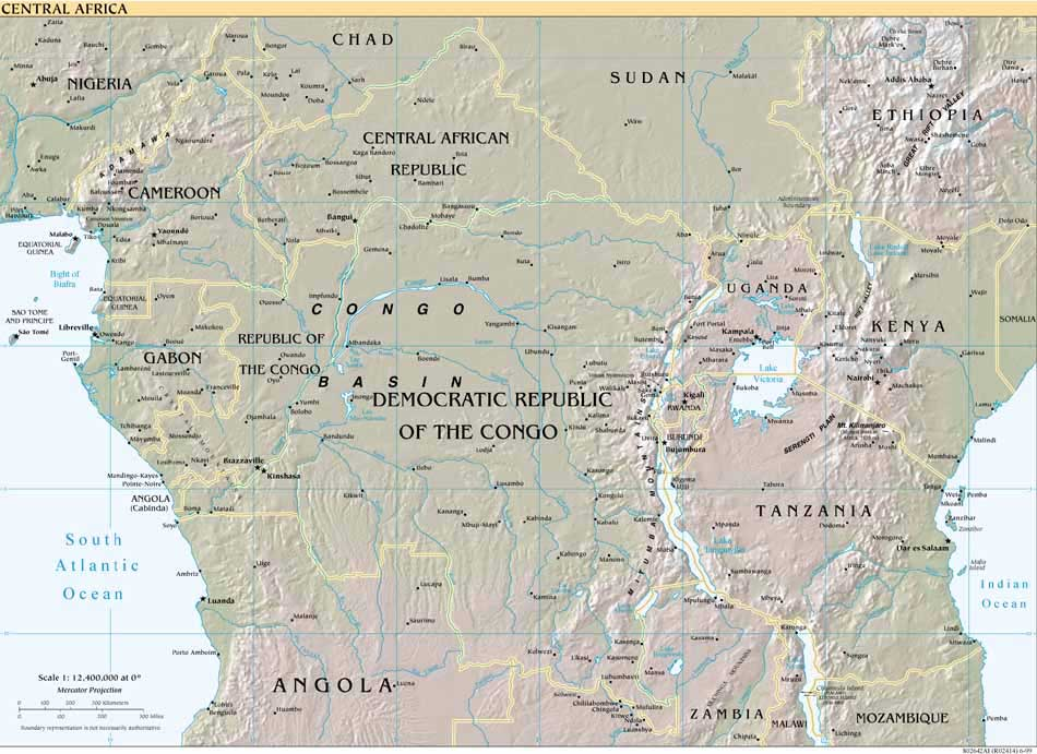 Horn of Africa Map Africa Reference Map