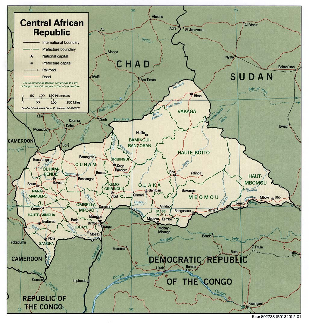 Central African Republic Maps Perry Castaneda Map Collection Ut