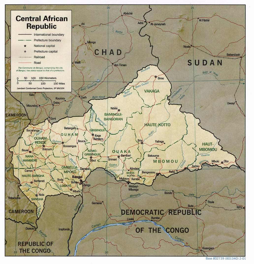 Central African Republic Maps PerryCastañeda Map Collection - African maps