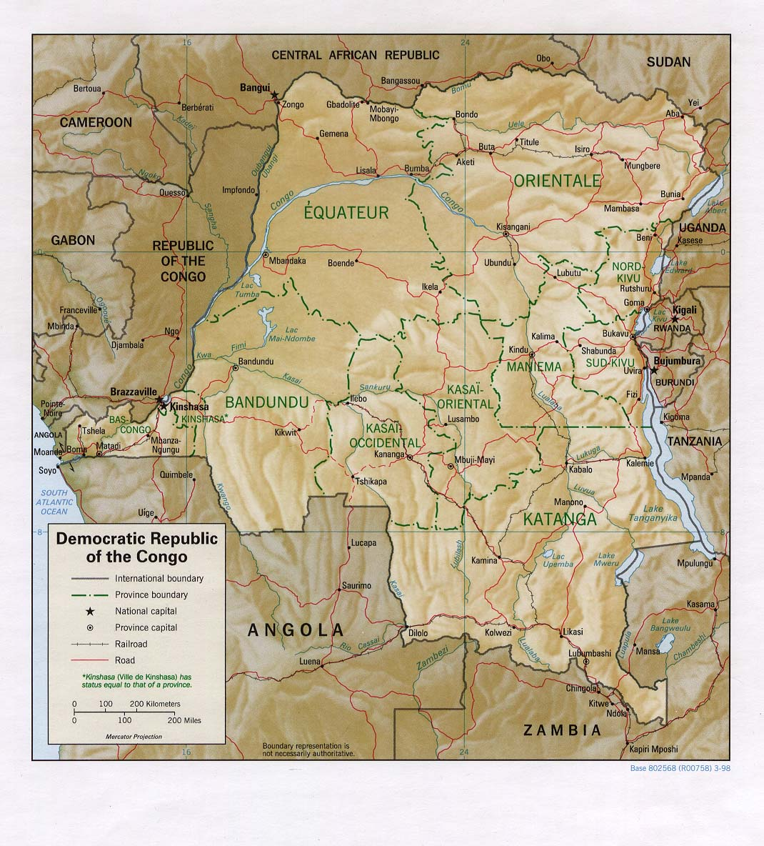 Maps Of Democratic Republic of Congo Zaire
