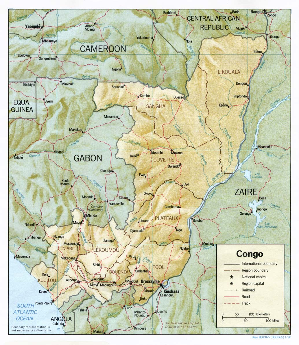 Congo Republic Maps PerryCastaeda Map Collection UT Library Online