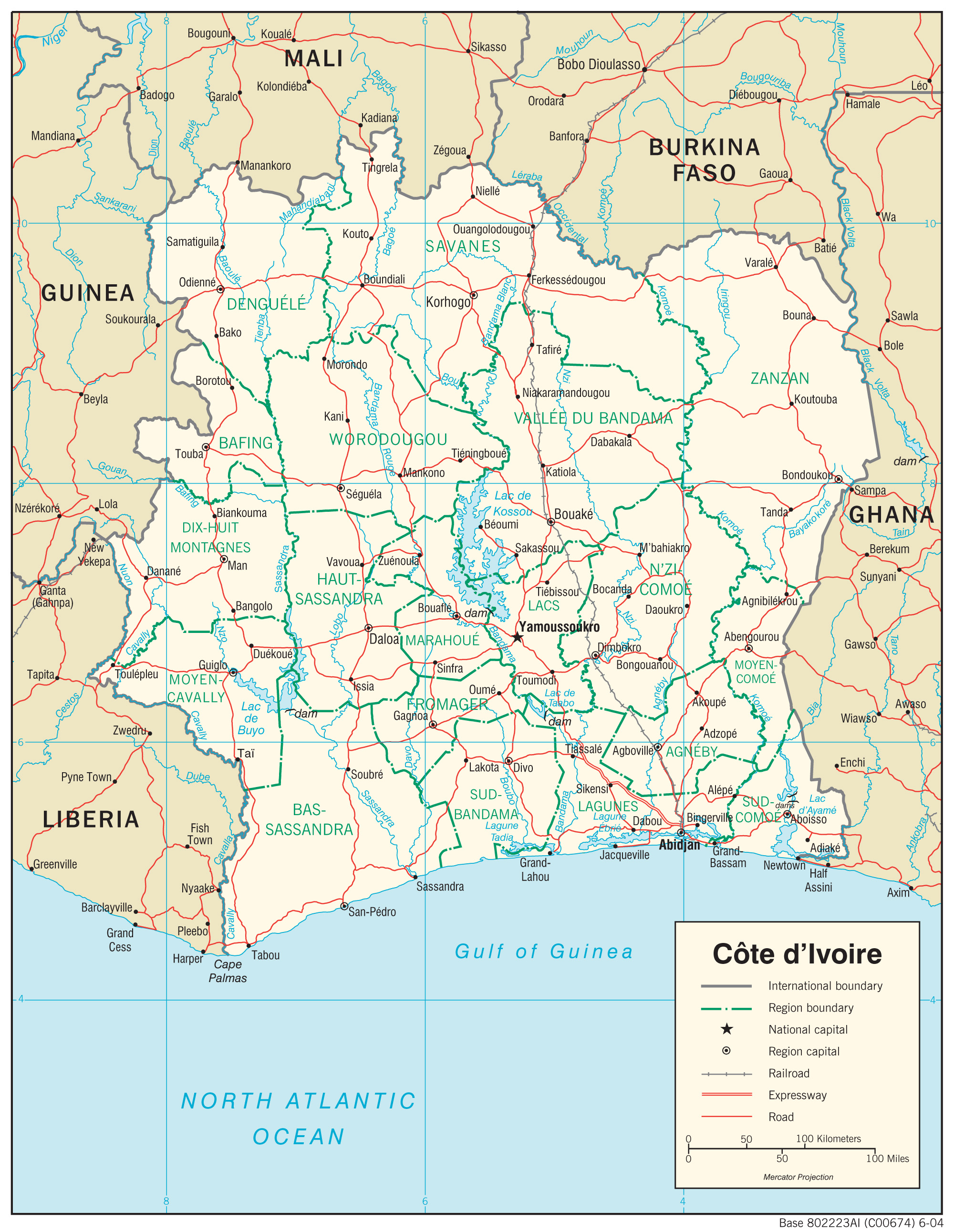 Cote D Ivoire Ivory Coast Maps Perry Castaneda Map Collection Ut Library Online