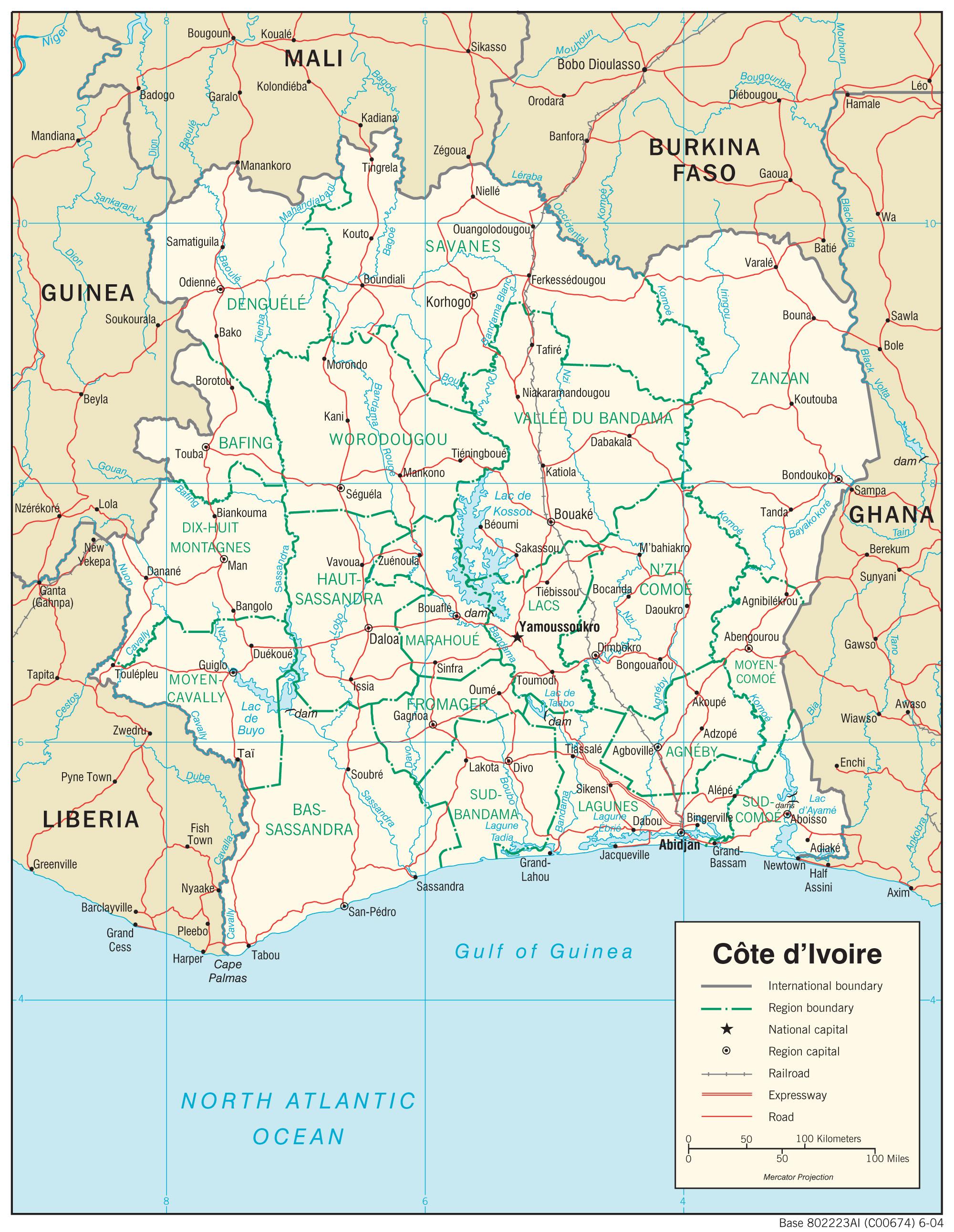 Cote D Ivoire Ivory Coast Maps