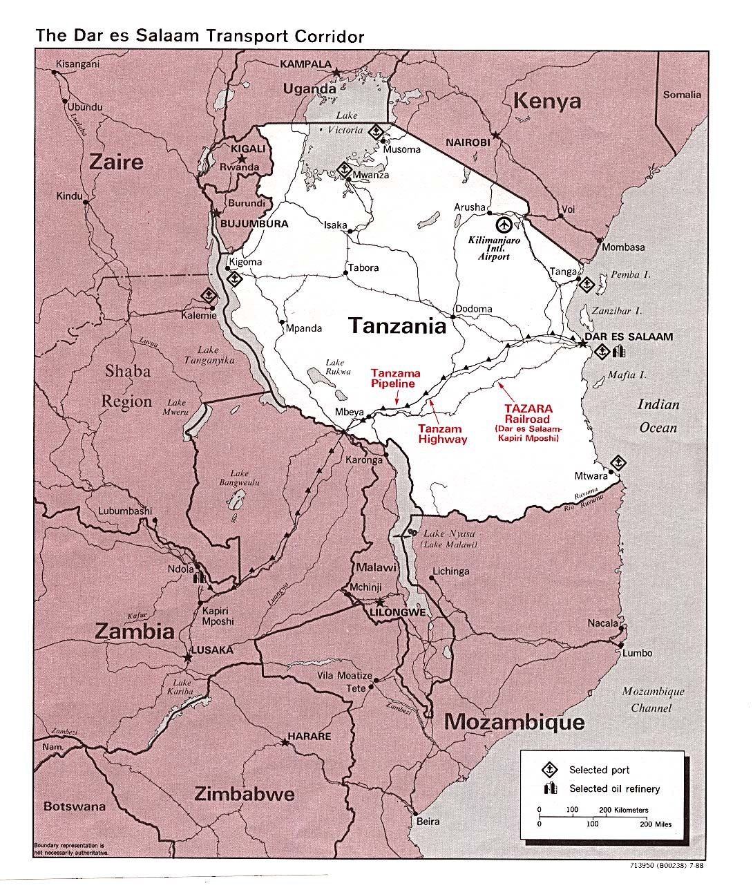Map Of Africa Tanzania.Tanzania Maps Perry Castaneda Map Collection Ut Library Online
