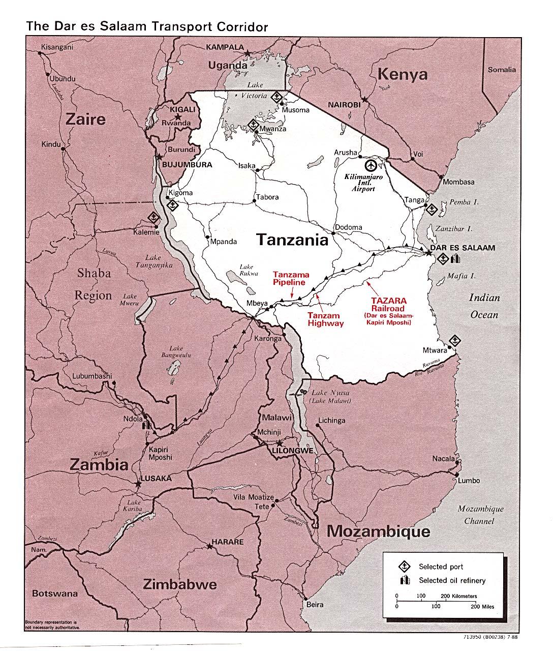 Tanzania Map Outline Islands