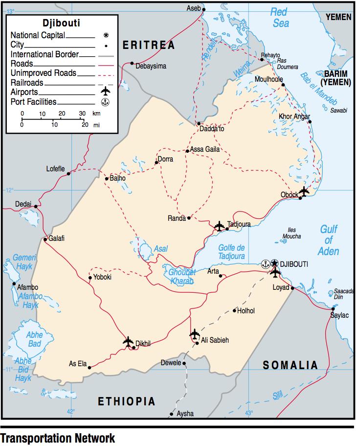 Djibouti Maps PerryCastañeda Map Collection UT Library Online - Djibouti map