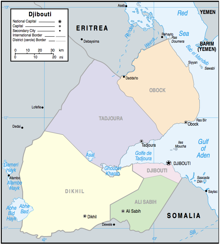 Djibouti Maps - Perry-Castañeda Map Collection - UT Library Online