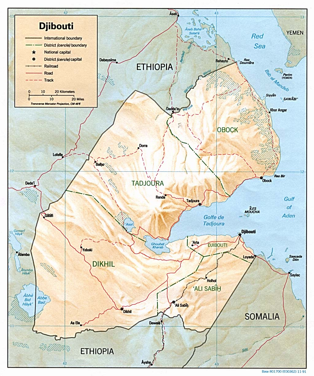 Djibouti On Africa Map.Djibouti Maps Perry Castaneda Map Collection Ut Library Online