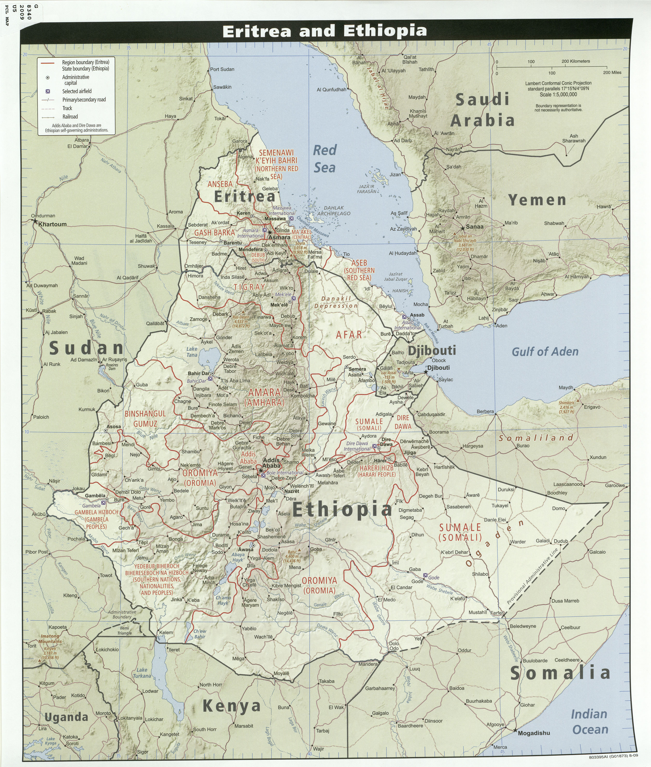 Ethiopia Maps Perry Castaneda Map Collection Ut Library Online