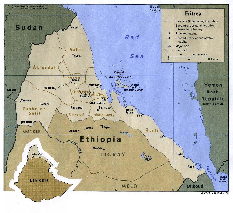 Eritrea Country Of Origin Information Report - Eritrea time zone map