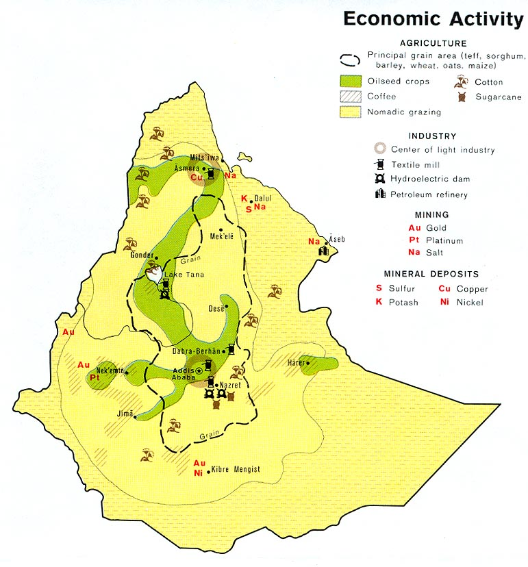 Ethiopia maps perry castaeda map collection ut library online ethiopia economic activity gumiabroncs Gallery