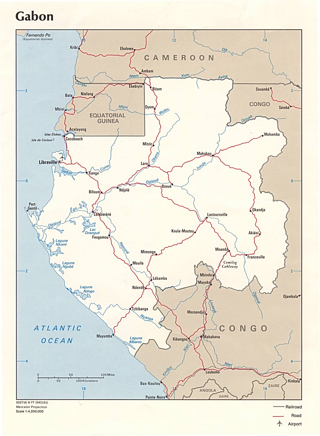 Gabon Maps PerryCastaeda Map Collection UT Library Online