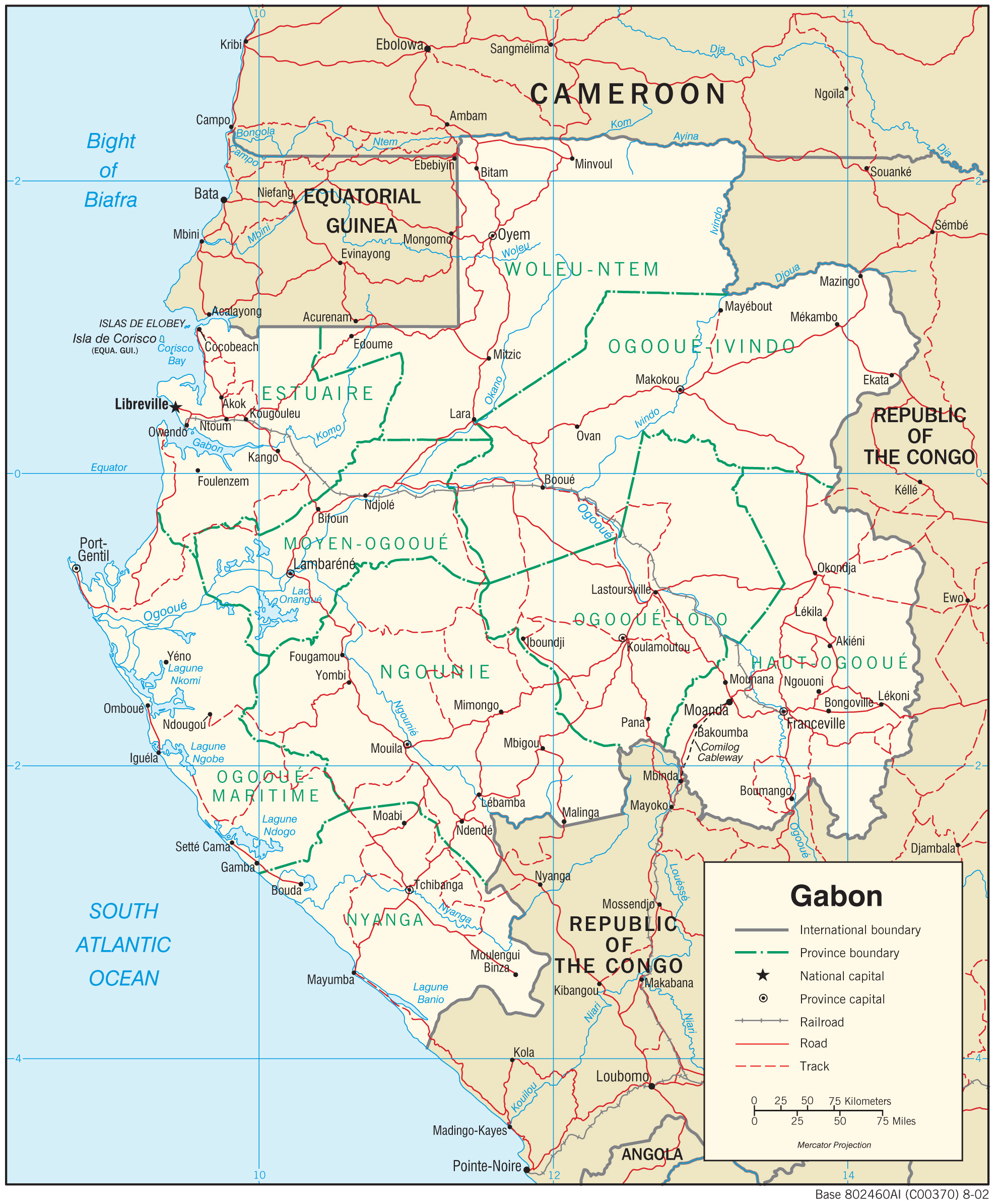 Gabon Maps PerryCastañeda Map Collection UT Library Online - Where is gabon on the world map