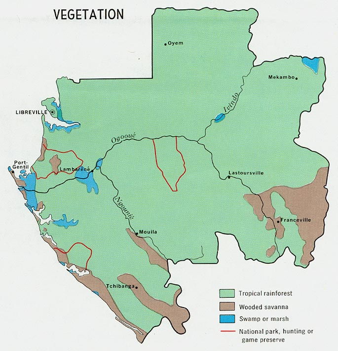Vegetation Map Of Gabon Since Gabon Is One Of The Biggest Countries