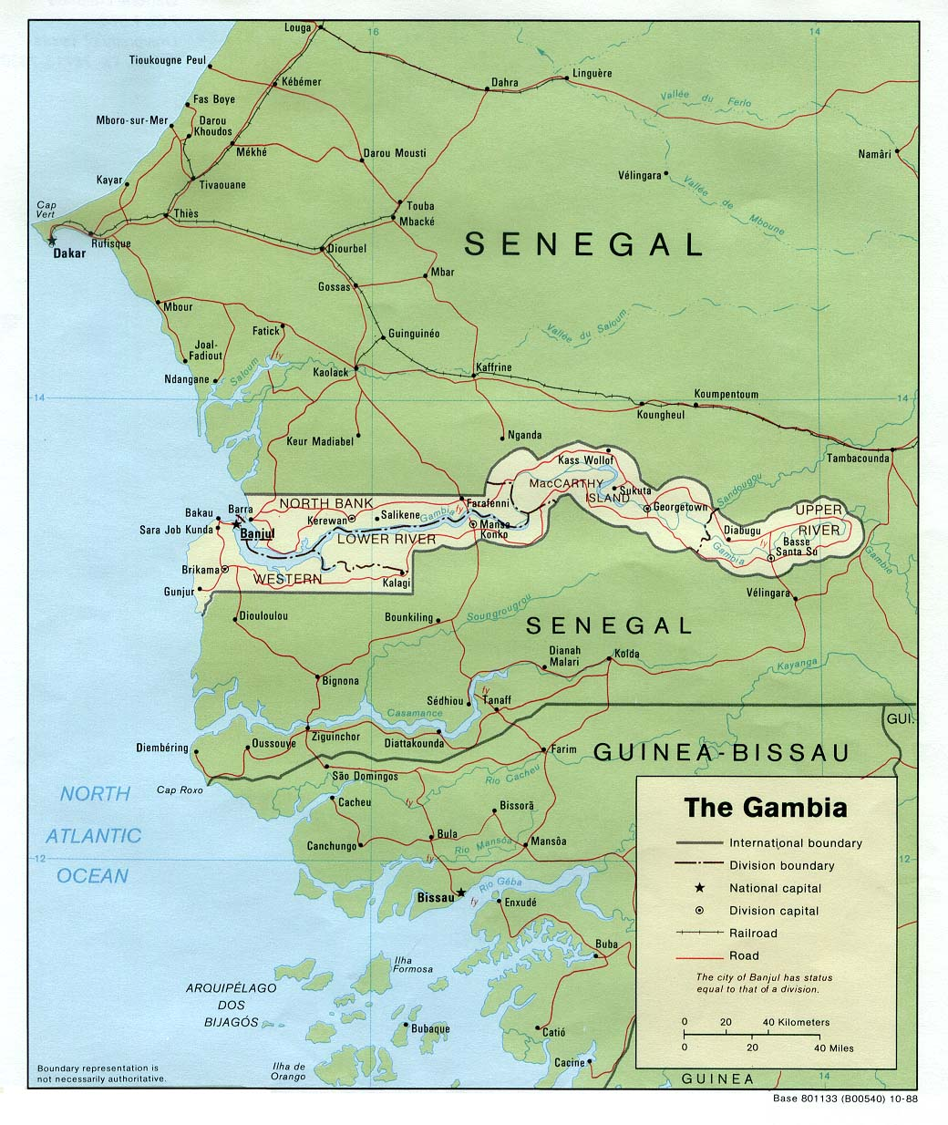 Gambia On Africa Map.Gambia Maps Perry Castaneda Map Collection Ut Library Online