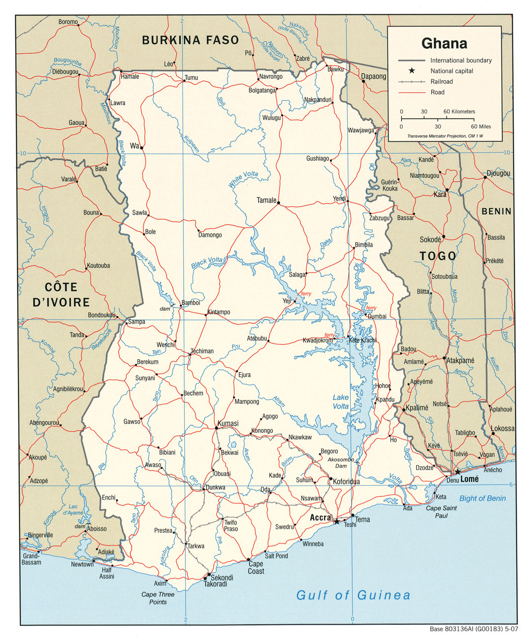 Ghana Maps - Perry-Castañeda Map Collection - UT Library Online