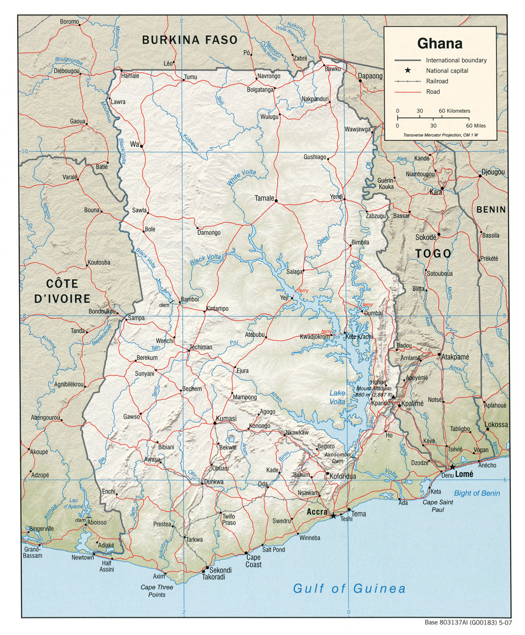 Ghana maps perry castaeda map collection ut library online ghana maps gumiabroncs Choice Image
