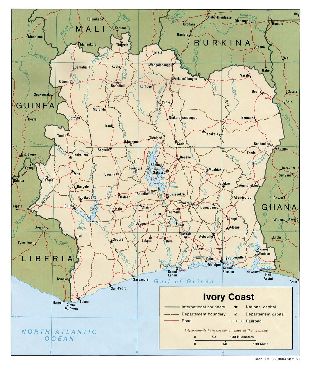 Cote DIvoire Ivory Coast Maps PerryCastañeda Map Collection - Ivory coast map of africa