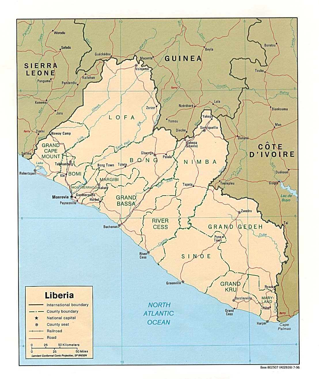 Liberia Maps PerryCastaeda Map Collection UT Library Online
