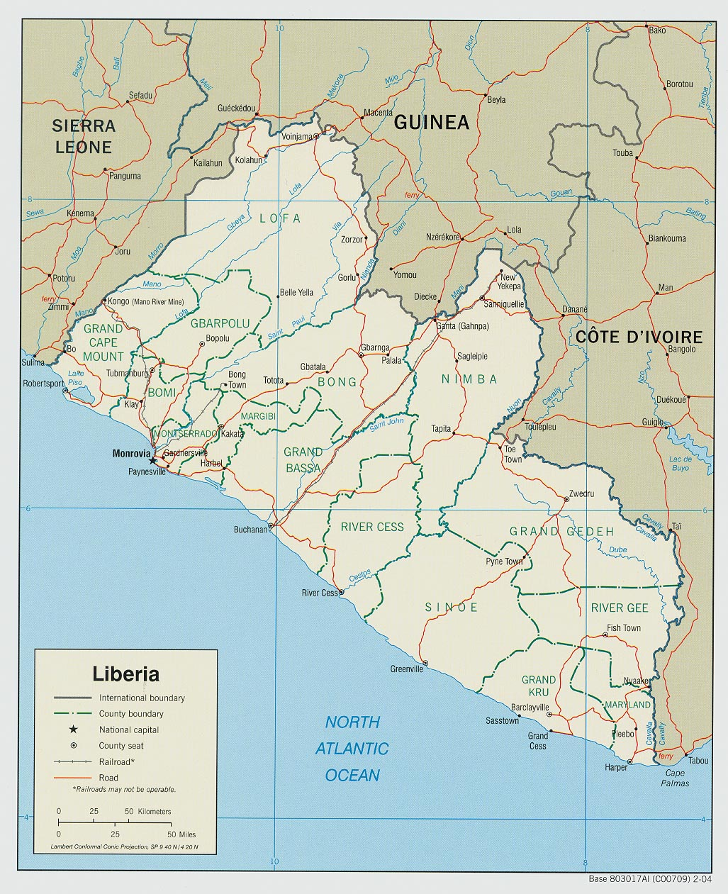 Liberia maps perry castaeda map collection ut library online liberia maps gumiabroncs Images