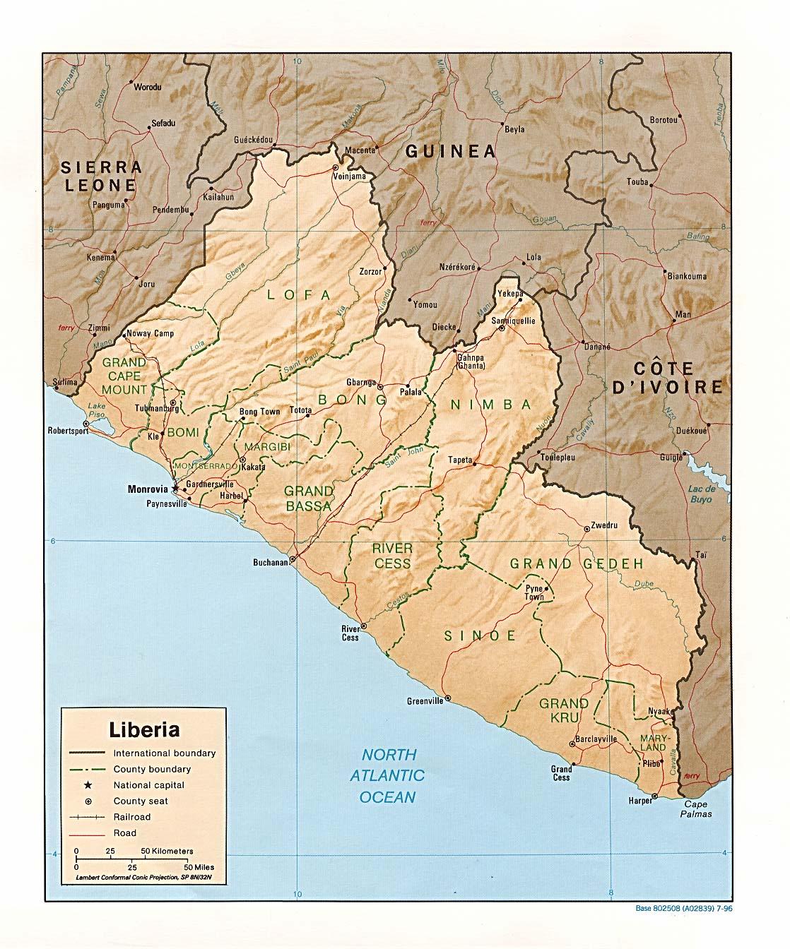 Map Of Liberia - Liberia map