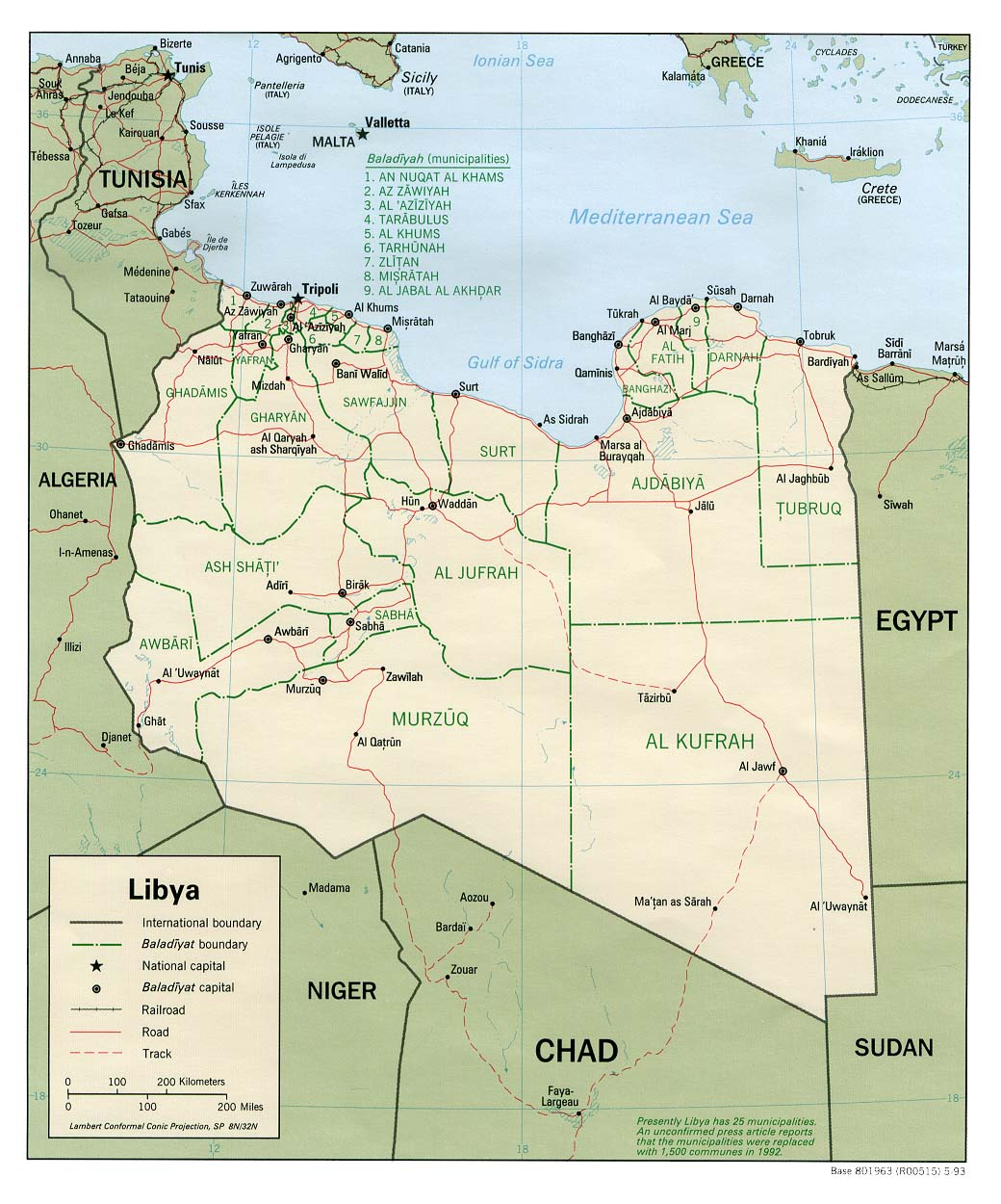 Libya Maps Perry Castaneda Map Collection Ut Library Online