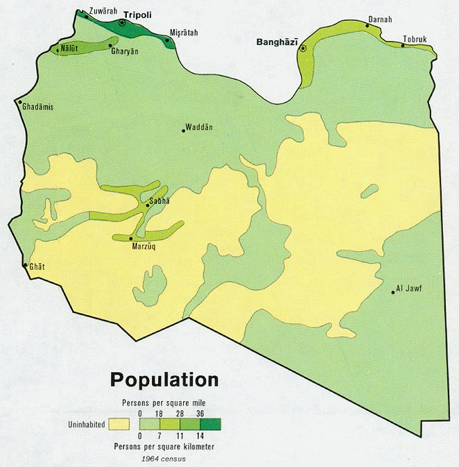 Libya maps perry castaeda map collection ut library online libya population gumiabroncs Gallery