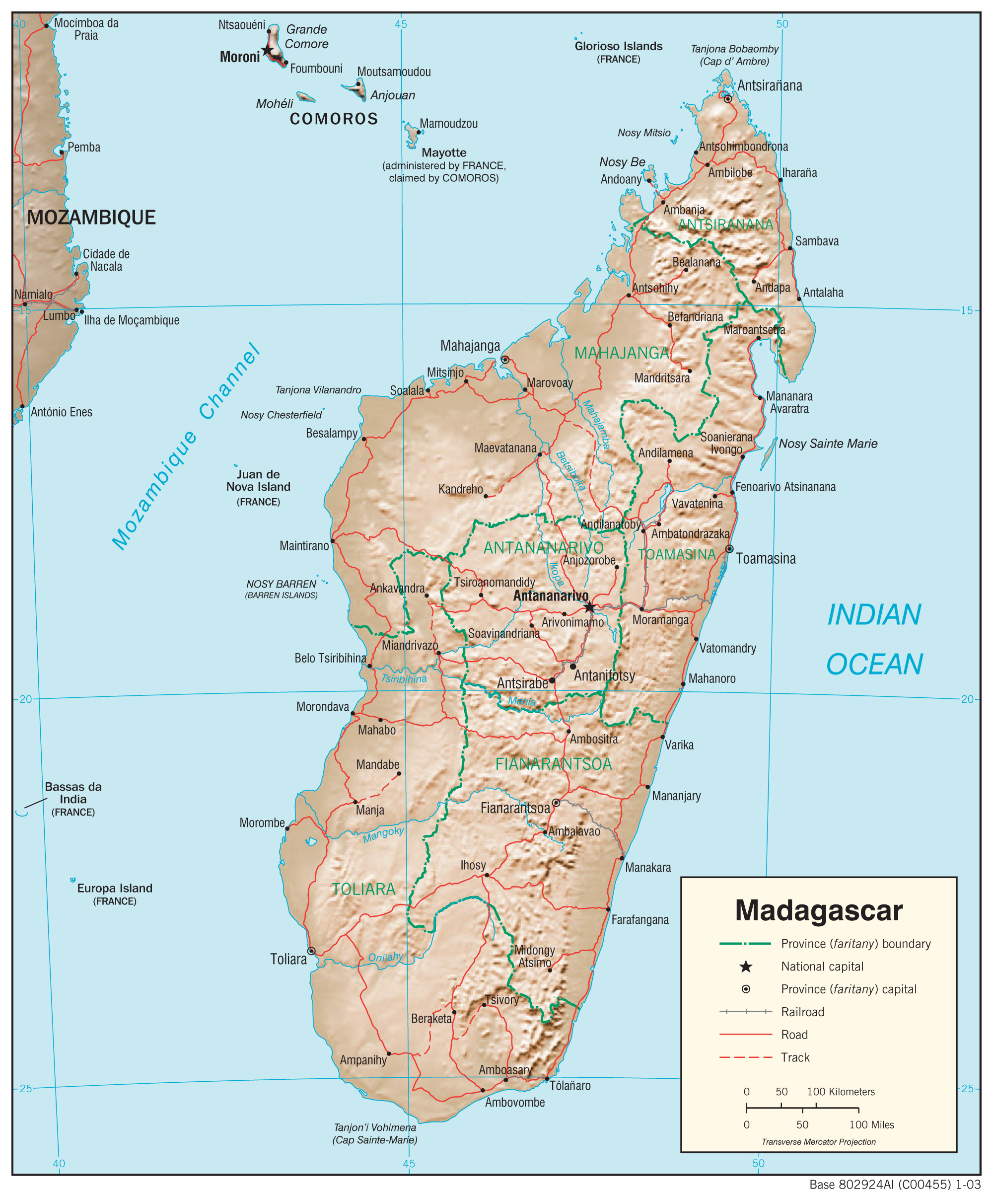 Map Of Madagascar Madagascar Maps   Perry Castañeda Map Collection   UT Library Online Map Of Madagascar
