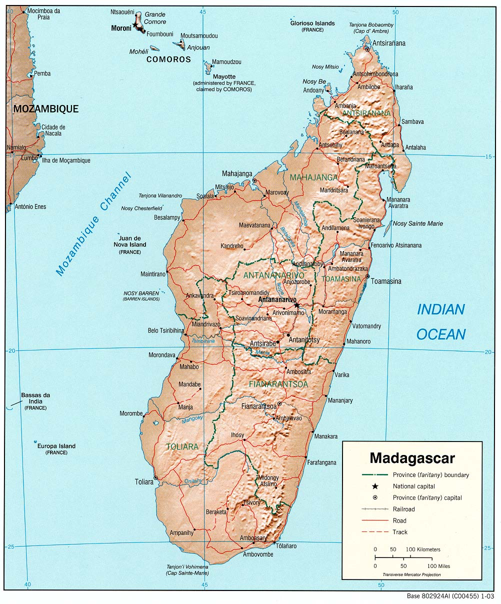 Topographic Map Of Madagascar.Madagascar Maps Perry Castaneda Map Collection Ut Library Online