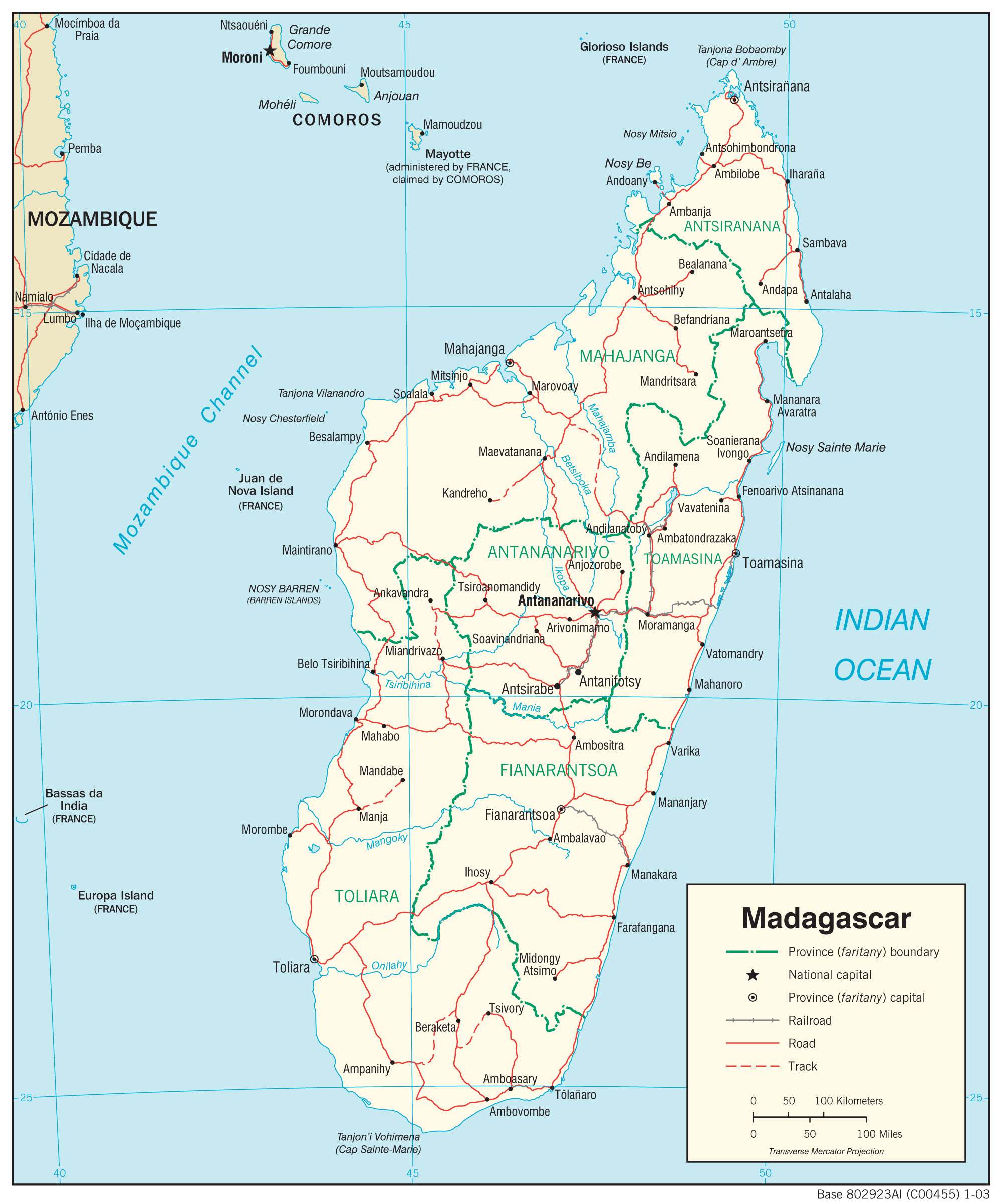 Madagascar Maps PerryCastañeda Map Collection UT Library Online - Madagascar map outline